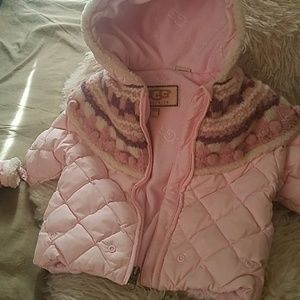 Infant Ugg jacket with mittens